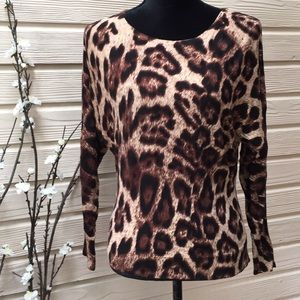 INC International Concepts Animal Print Sweater